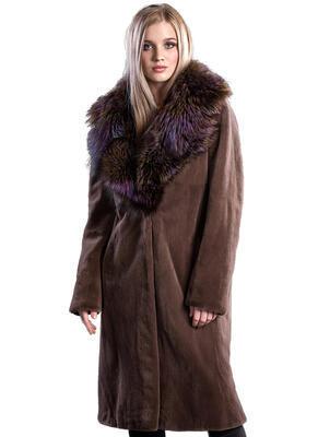Plášť norek ,límec liška - 1