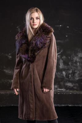 Plášť norek ,límec liška - 4