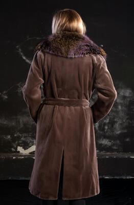 Plášť norek ,límec liška - 6